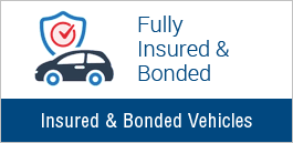 Fully Insured & Bonded Vehicles