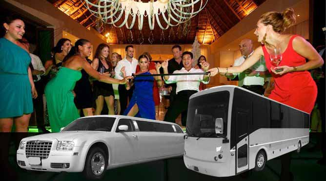 Bachelor party Limo Party Bus Rental Petaluma